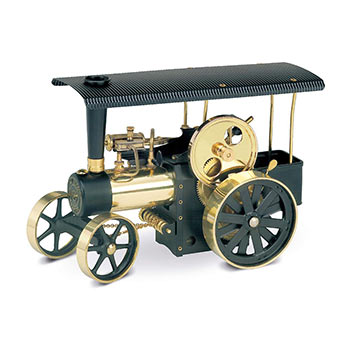 Steam Traction Engine - D 406 / black & brass