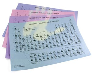 Heat-Sensitive Periodic Tables