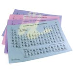 Heat-Sensitive Periodic Tables - Large Heat Sensitive Periodic Tables - 30/pk