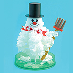 Growing Holiday Crystals - White 6 inch Crystal Growing Snowman - *Seasonal Availability*