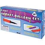 Rocket Balloons - 85 Rocket Balloons with Pump