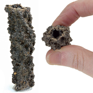 Fulgurite - Lightning Fused Sand