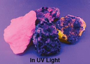 Fluorescent Mineral Set