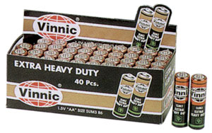 AA Heavy Duty Batteries 40/pk