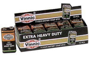 9 volt Batteries - pack of 10