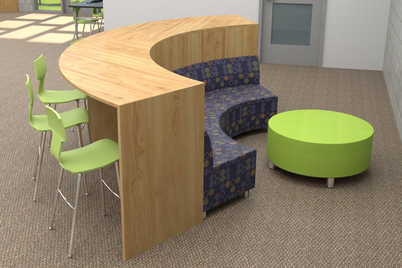 Modern and Minimalistic High School Library
