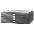 SAFCO® Steel Flat Files - 5 Drawer, 16-1/2
