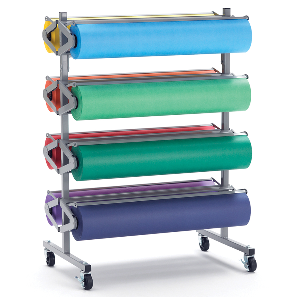 Kraft Paper Mobile Horizontal Rack - 8 Roll