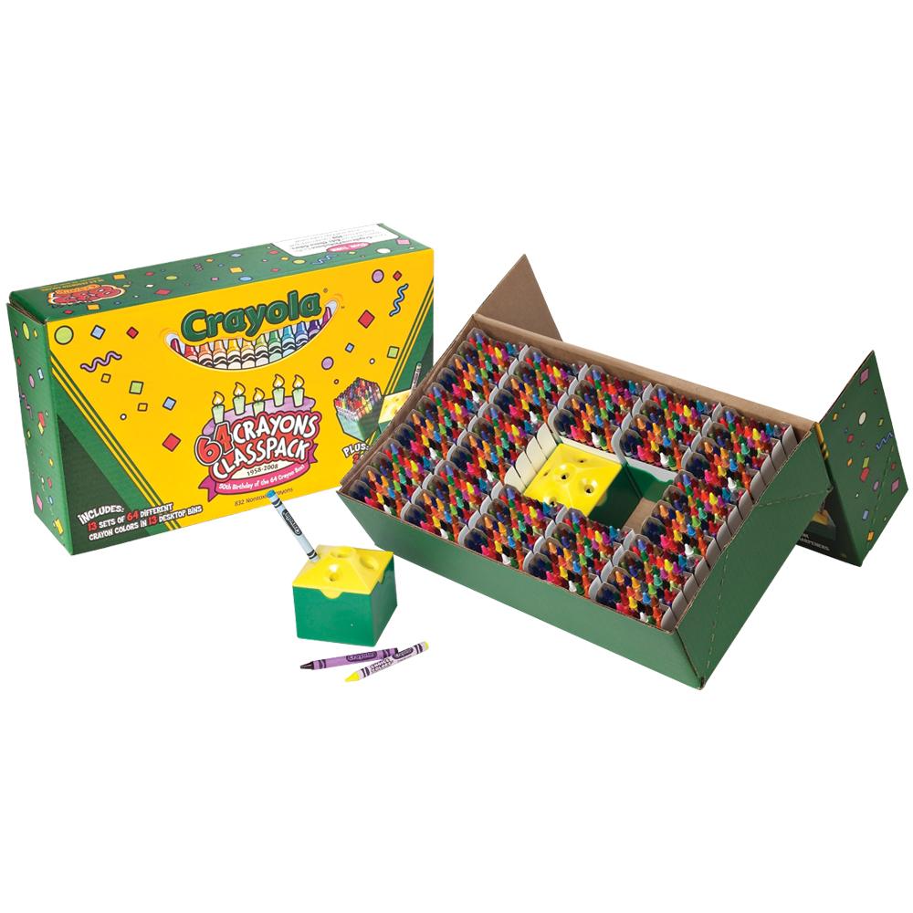Crayola® Standard/ Regular-size Crayons Classpacks® - 64 Colors (832/Box)