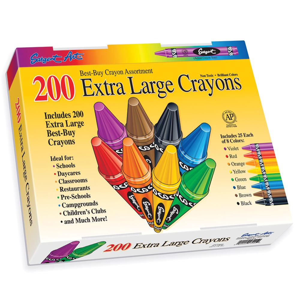 Sargent Art® Crayon Class Pack - Extra-Large - 200/Box