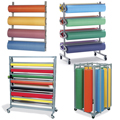 Wall and Floor Paper Roll Racks