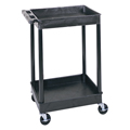 LUXOR|H.WILSON Endura® Heavy-Duty Utility Cart - 2 Tubs