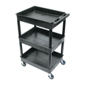 LUXOR|H.WILSON Endura® Heavy-Duty Utility Cart - 3 Tubs