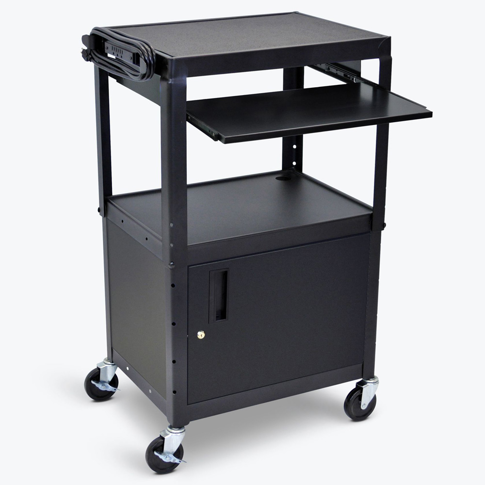 LUXOR H.WILSON Duraweld Cart with Keyboard Tray and Cabinet