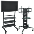 LUXOR|H.WILSON Mobile Flat Panel Carts