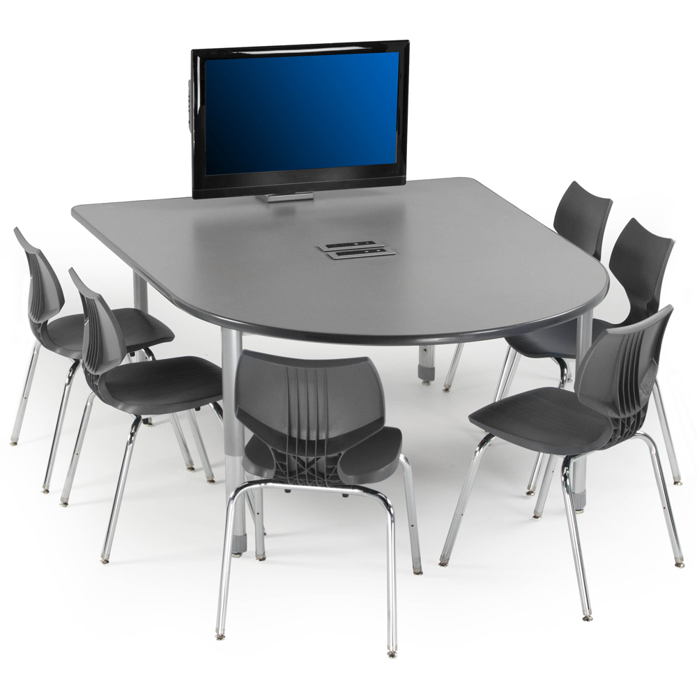 SMITH SYSTEM® Interchange Multimedia Table with Power