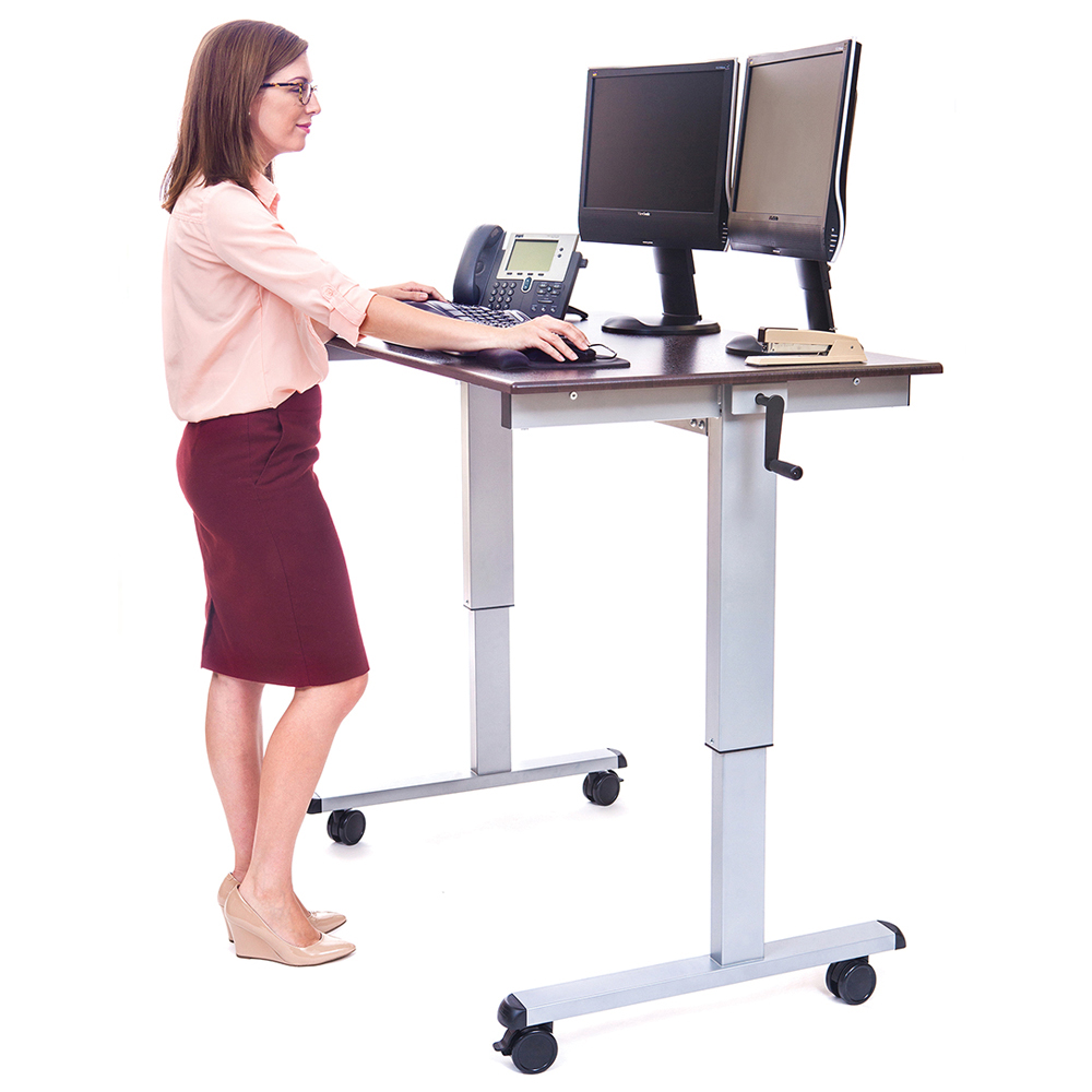 LUXOR|H.WILSON Crank Adjustable Stand Up Desk