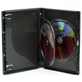 Clear-Vu One-Time™ Security Case - 2 Disc DVD, Black