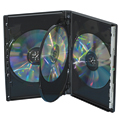 Clear-Vu One-Time™ Security Case - 4 Disc DVD, Black