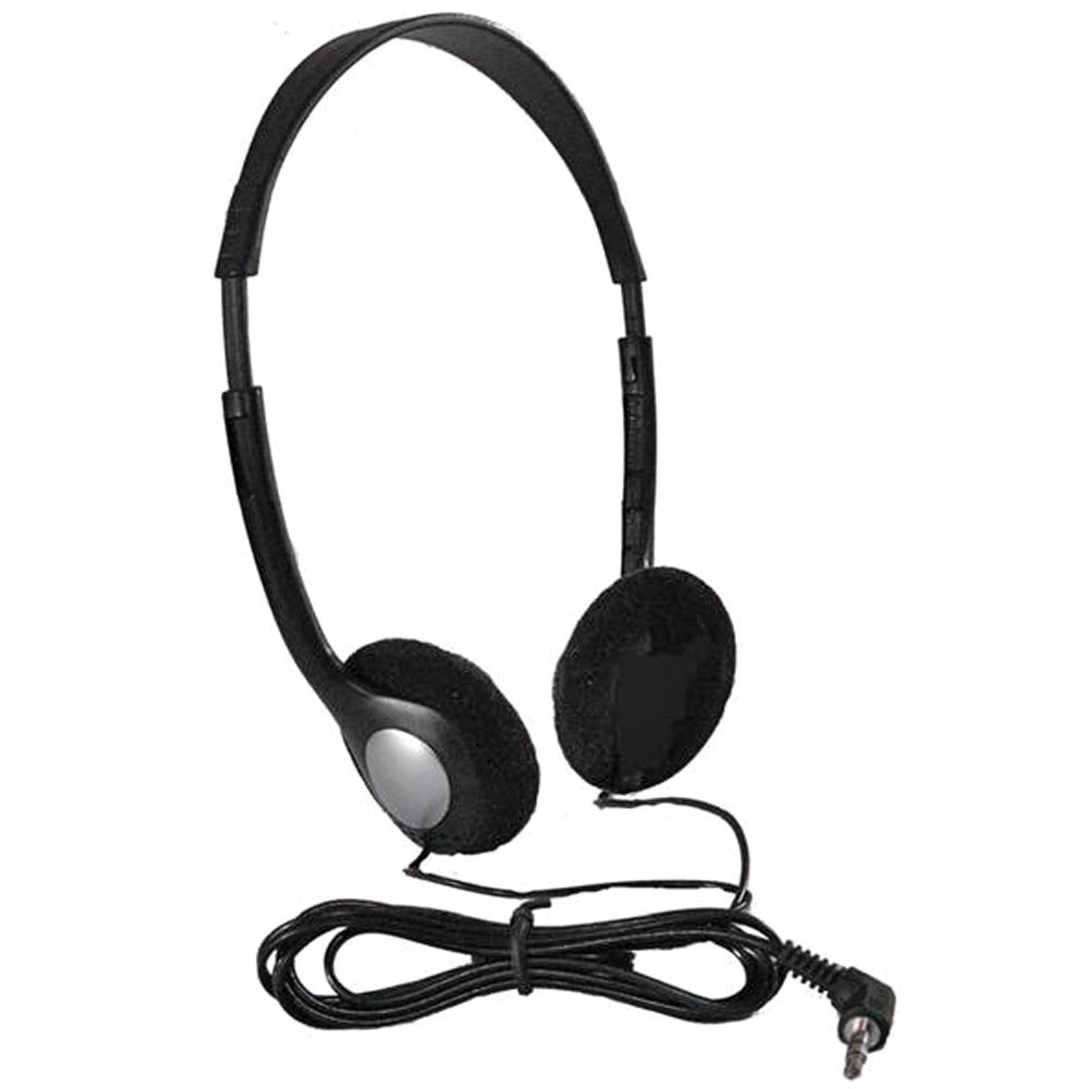 HamiltonBuhl® Personal Economical Headphones Bulk Pack of 50