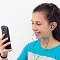 In-Ear Flat Cable Stereo Earphones with Microphone CLEARANCE