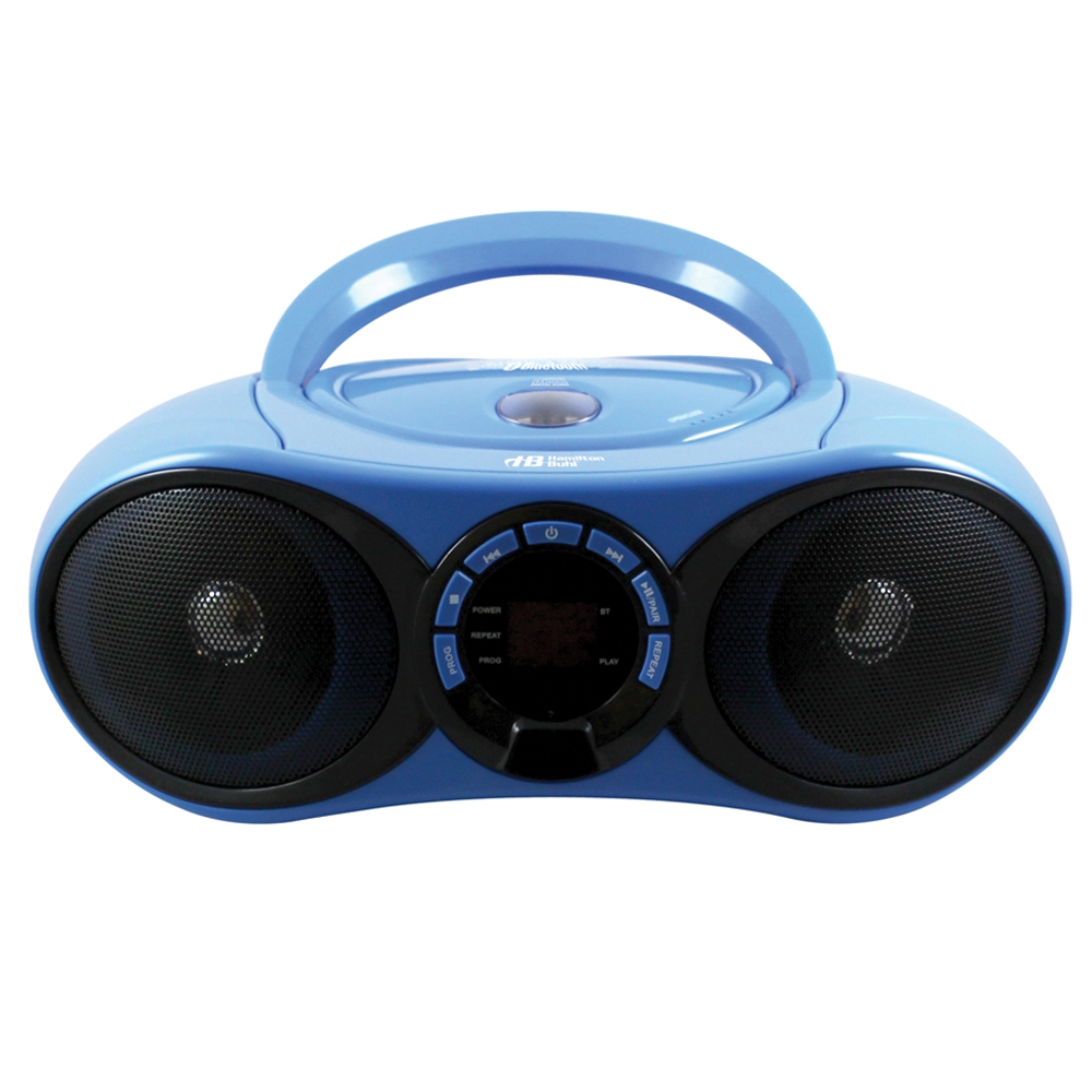 HamiltonBuhl® AudioMVP™ Portale Stereo Boombox with Bluetooth Receiver, CD/FM Player