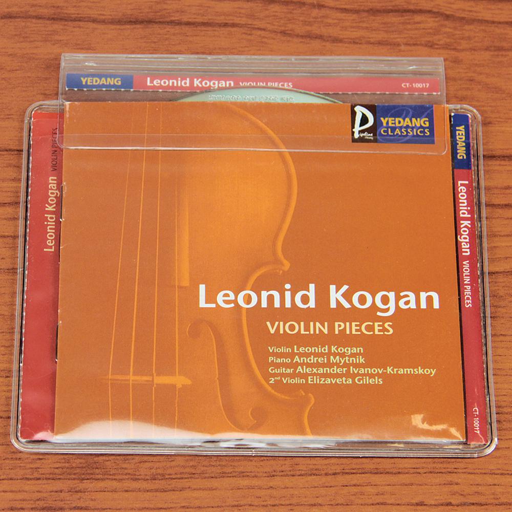 12-gauge Clear Vinyl Pouches with Spine Label Pocket - 10/Pkg