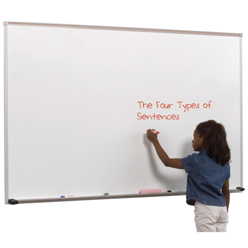 MooreCo® Dura-Rite® Whiteboard with Deluxe Aluminum Trim - 4 ft.H x 8 ft.W