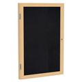 ghent® Enclosed Recycled Rubber Bulletin Board - 1 Door - 3 ft.H x 3 ft.W - Oak Frame