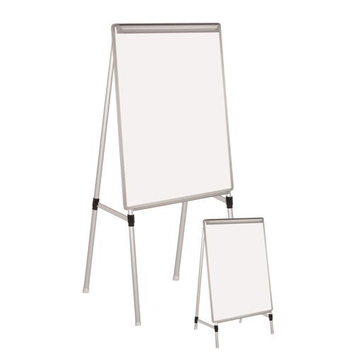 Silver Easy Clean™ Dry-Erase Quad-Pod Presentation Easel