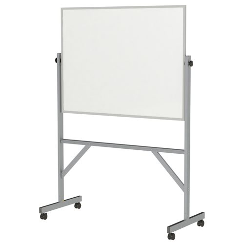 "ghent® Reversible Free Standing Board - Magnetic Porcelain - Aluminum Frame - 72-1/8""H x 53-1/4""W x 23-3/4""D"