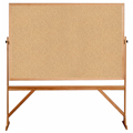 ghent® Reversible Free Standing Board - Natural Cork - Wood Frame - 78-1/8