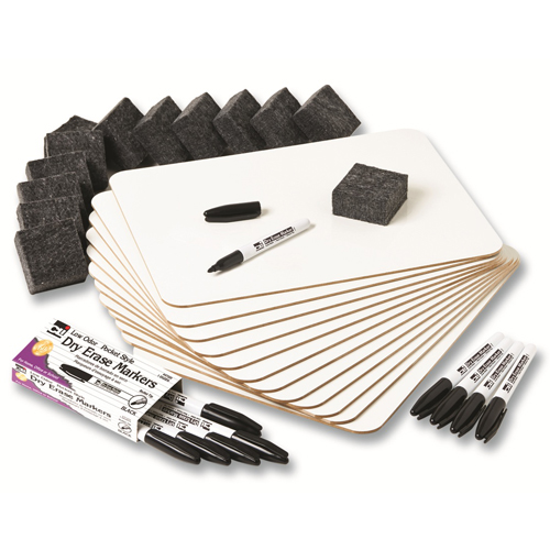 Dry-Erase Lapboards Class Pack - 12 Sets/Pkg