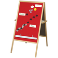 Best-Rite™ Magnetic Flannel Easel with Wood FrameNew!