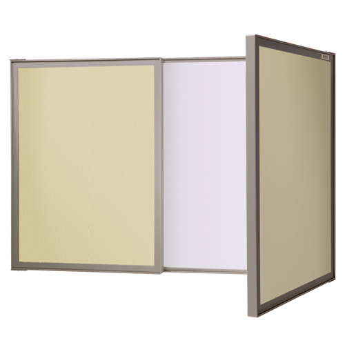 ghent® VisuALL Dry-Erase & Fabric Cabinet Combo Board