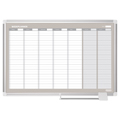 Magnetic Gold Ultra™ Weekly Planner Dry-Erase Board - 3 ft.H x 4 ft.W