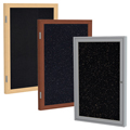 ghent® Enclosed Recycled Rubber Bulletin Boards - 1 Door