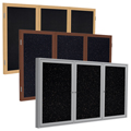 ghent® Enclosed Recycled Rubber Bulletin Boards - 3 Door