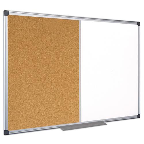 Maya Series Melamine Dry-Erase & Cork Combo Boards
