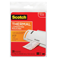 Scotch® Thermal Laminating Pouches - 5-mil, 3-1/2