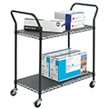 SAFCO® Wire Book Cart - 2 Flat Shelves