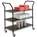 SAFCO® Wire Book Cart - 3 Flat Shelves