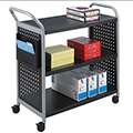 SAFCO® Scoot™ Book Truck - 3 Flat Shelves