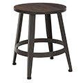 ofm Edge Stools - 18H Stool with Elm Wood Seat