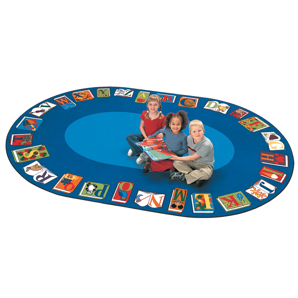 """Carpets for Kids Reading By the Book Reading Carpet - 6 ft. 9"""" x 9 ft. 5"""" Oval"""