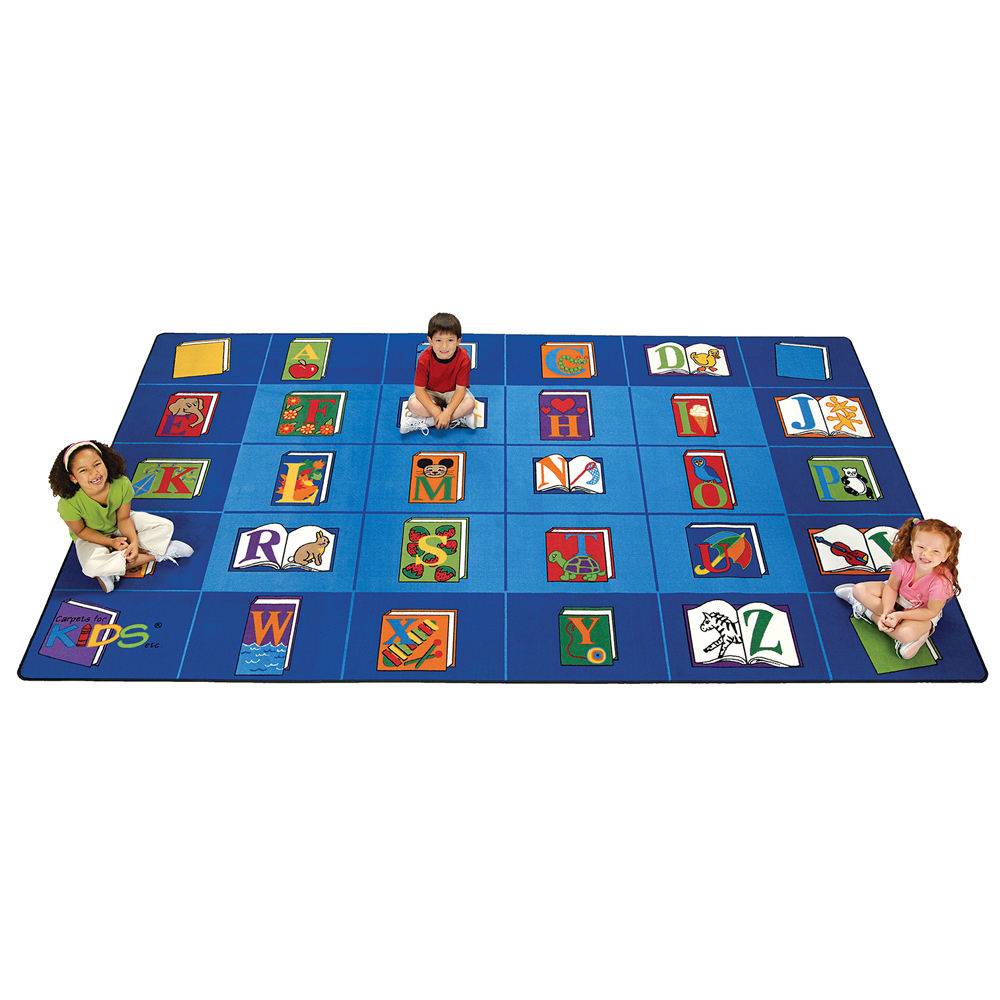 """Carpets for Kids Reading By the Book - 7 ft. 6"""" x 12 ft."""