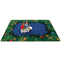 Carpets for Kids Peaceful Tropical Night - 8 ft. x 12 ft.