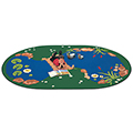 Carpets for Kids The Pond - 4 ft. 5 x 5 ft. 10 Oval