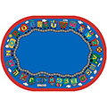 Joy Carpets Reading Train™ - 7 ft. 8 x 10 ft. 9 Oval