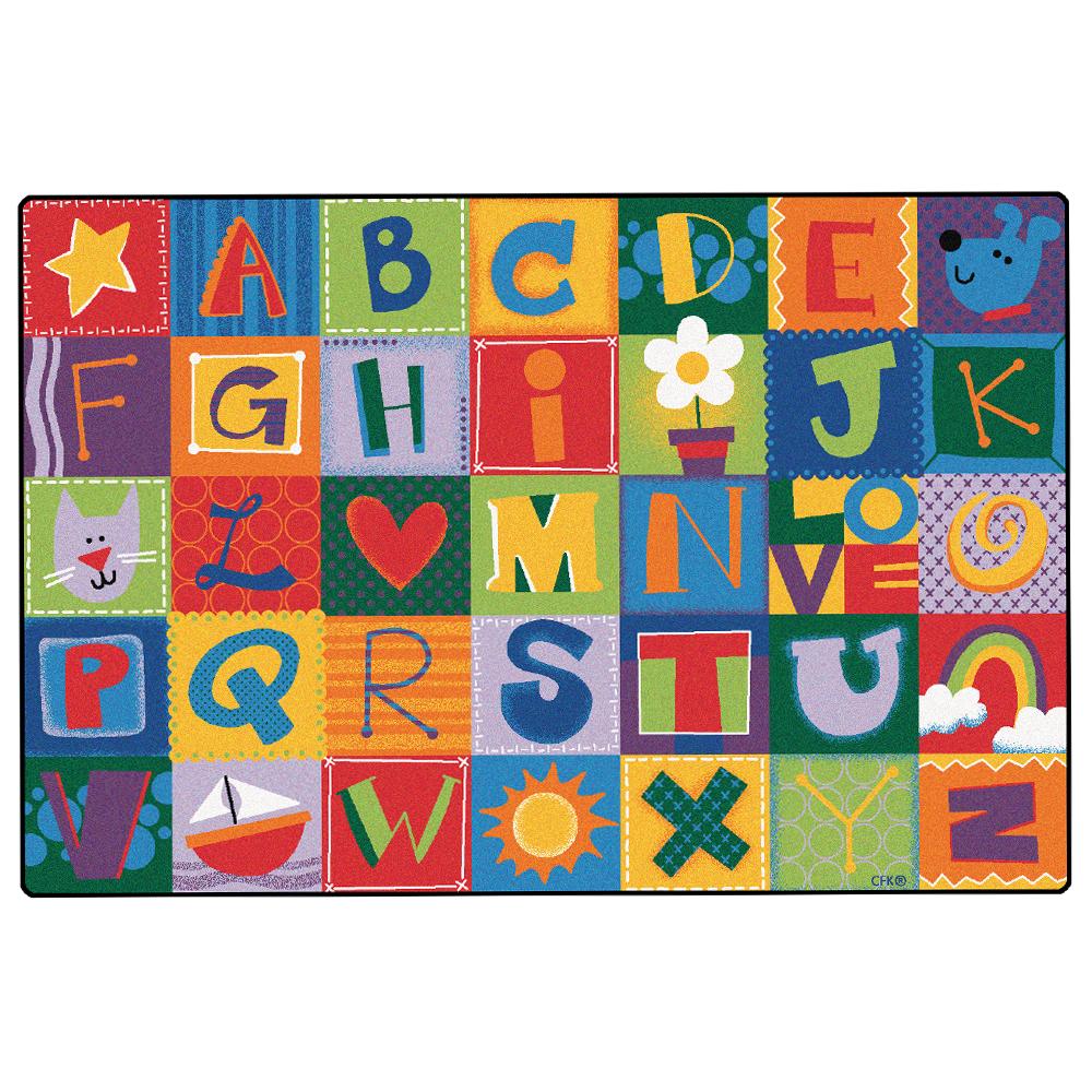 Carpets for Kids Alphabet Blocks - 6 ft. x 9 ft.